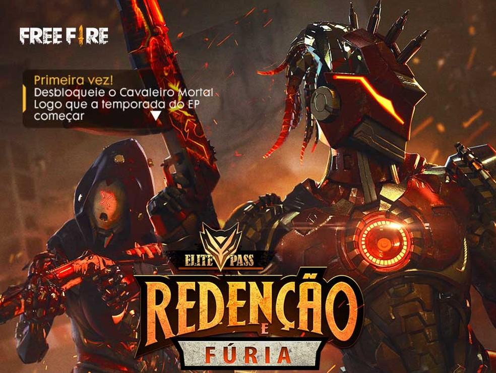 As páginas de Free Fire já estão divulgando o novo modo de jogo e passe de temporada � Foto: Divulgação/Garena