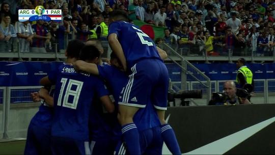 Sánchez pega de primeira e abre o placar para o Paraguai; veja o gol