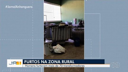 Homens são presos suspeitos de furtar e revender mais de 70 transformadores em Goiás