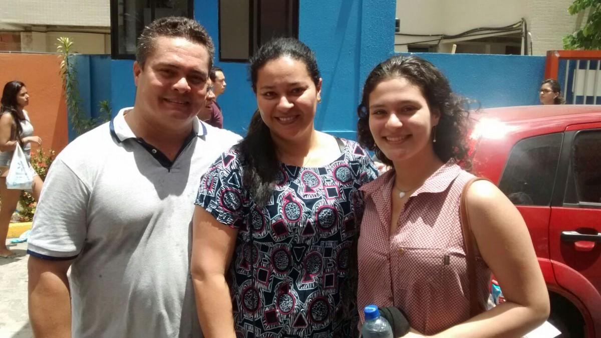 Família inteira faz provas do Enem 2017 no mesmo local, em João Pessoa