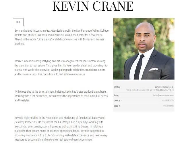 O currículo do ex-ator Kevin Crane, no qual ele diz ter nascido e sido criado em Los Angeles, feito formação em administração, trabalhado como ator infantil e trabalhado pra Disney e pra Warner. (Foto: Reprodução)
