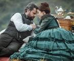 Selton Mello e Mariana Ximenes em cena de 'Nos tempos do imperador' | Globo