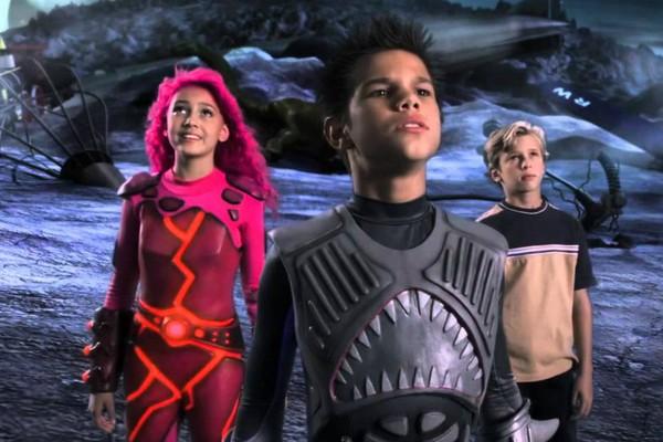 Os heróis elementares em As Aventuras de Sharkboy e Lavagirl em 3-D (2005) (Foto: Reprodução)