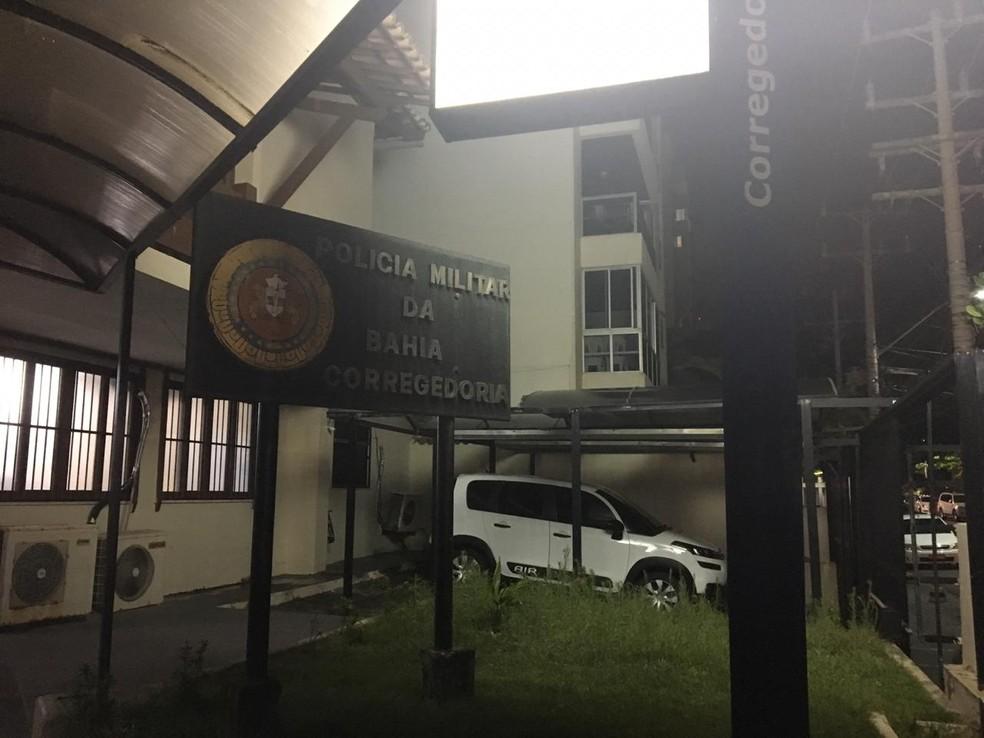 Soldado foi levado para a Corregedoria da PM, Mas não aceitou prestar depoimento — Foto: João Souza/G1