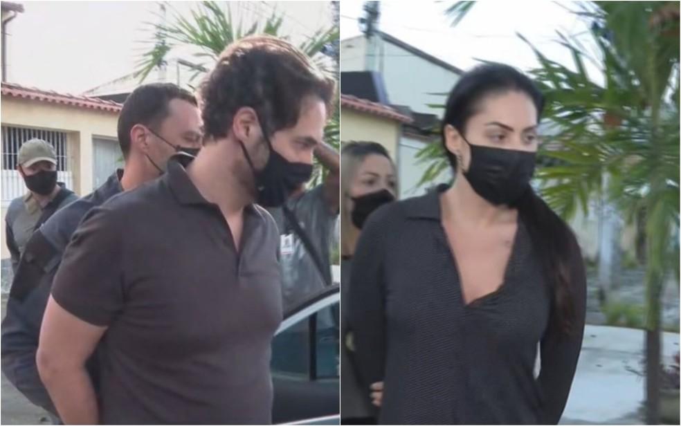 A polícia prendeu o vereador carioca Dr. Jairinho (Solidariedade), padrasto do menino Henry Borel, e Monique Medeiros, mãe do garoto — Foto: TV Globo/Reprodução