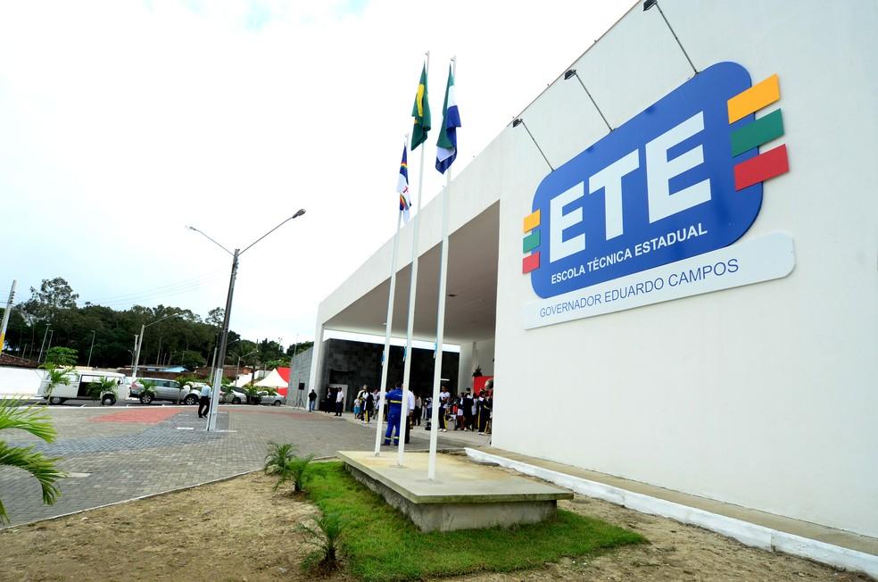 Escola Técnica Governador Eduardo Campos fica em São Lourenço da Mata, no Grande Recife — Foto: Alyne Pinheiro/Secretaria Estadual de Educação/Divulgação
