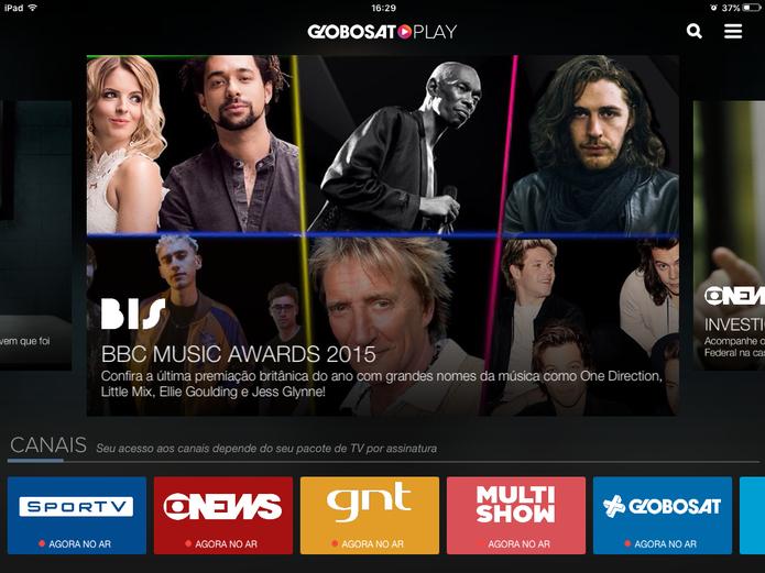 Globosat Play tem programas da Globo News, GNT, Multishow, SporTV e outros canais Globosat (Foto: Reprodução/Elson de Souza)