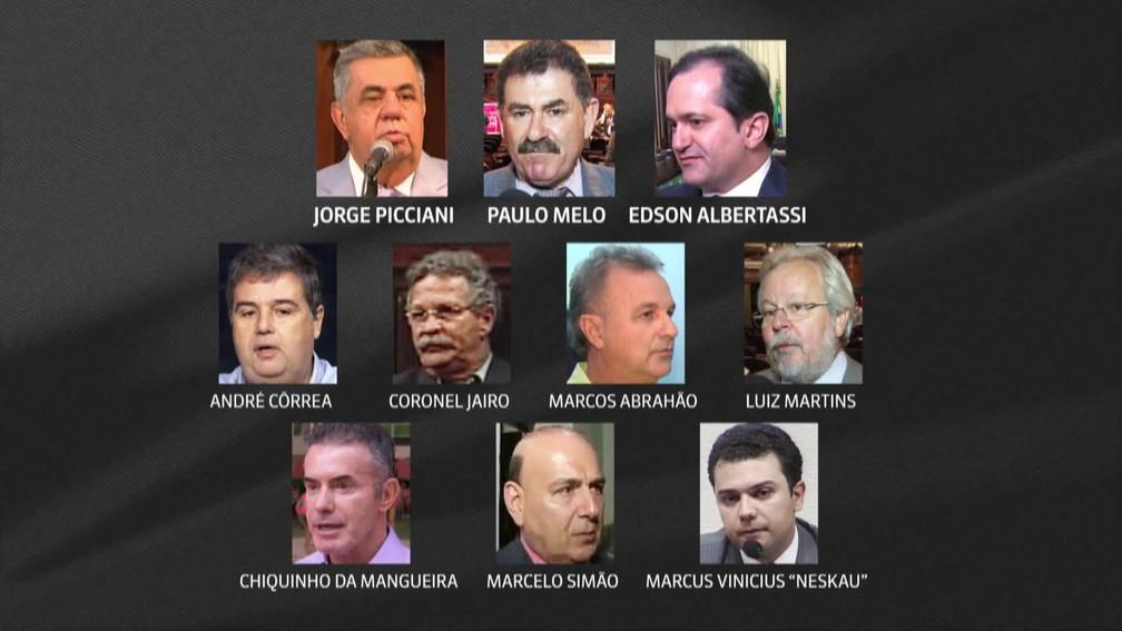 Deputados estaduais presos na Lava Jato — Foto: Reprodução/TV Globo
