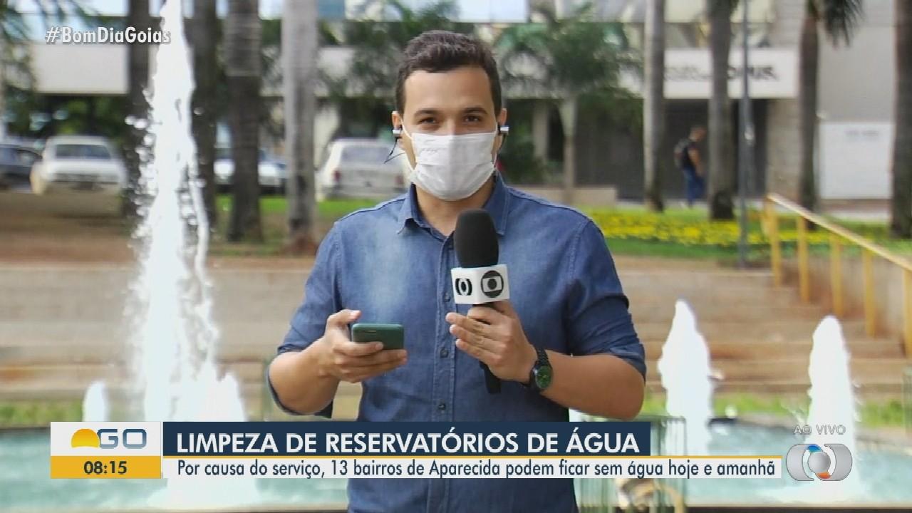 Limpeza de reservatórios suspende fornecimento de água em bairros de Aparecida de Goiânia