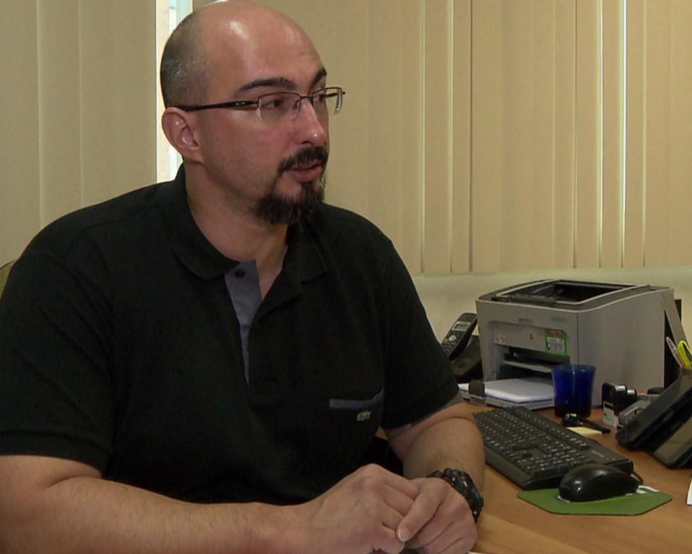 Delegado Erik Busetti (em imagem de arquivo da RPC) é suspeito de matar a esposa e a enteada a tiros, em Curitiba — Foto: Arquivo/RPC