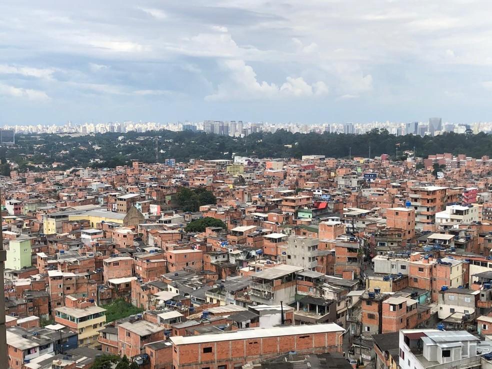 A comunidade de Heliópolis, na Zona Sul da capital paulista em 2020 — Foto: Divulgação/PMSP
