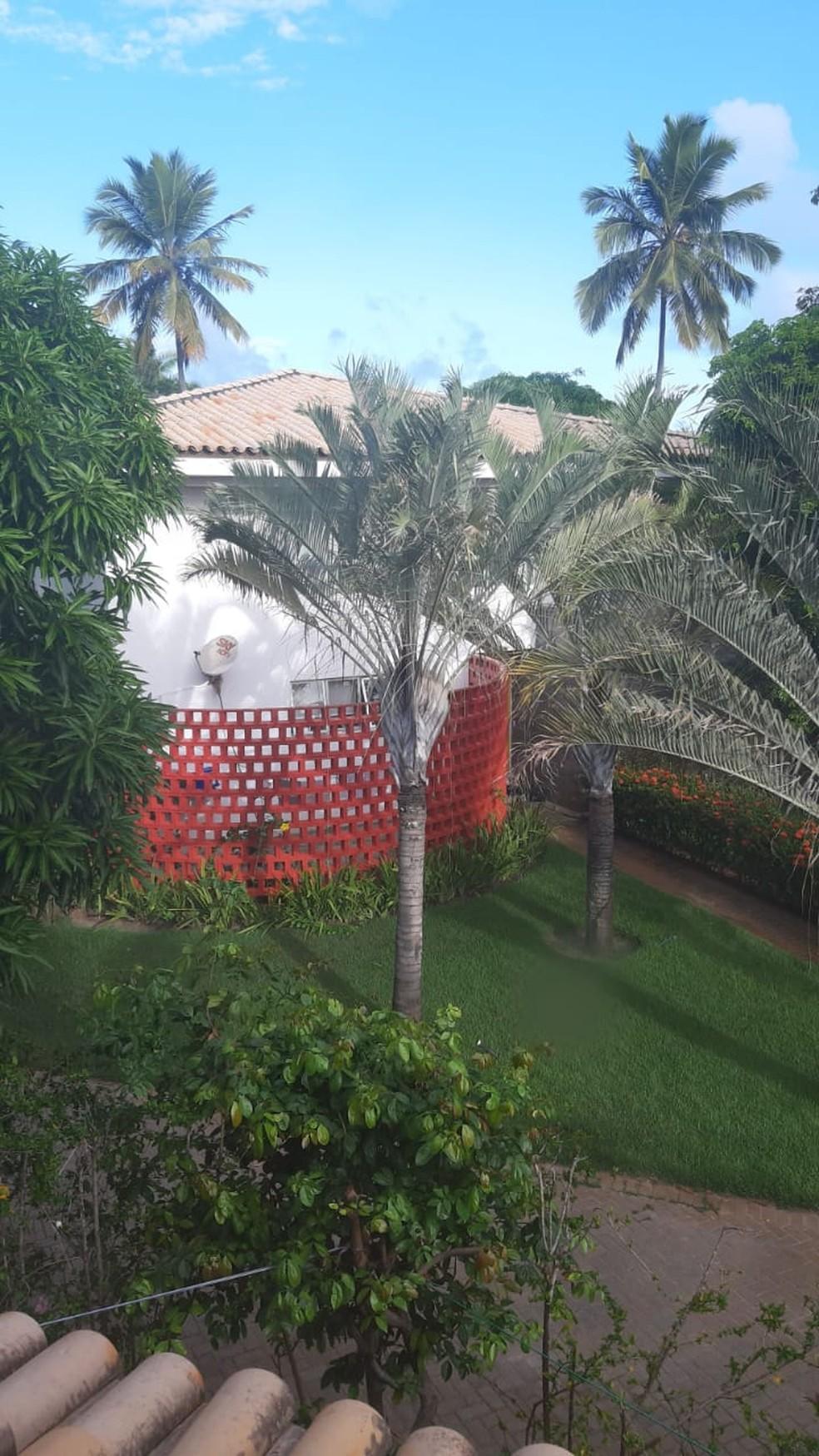 Casa em condomínio de luxo na Costa do Sauipe alugada por Adriano em dezembro de 2019 — Foto: Reprodução