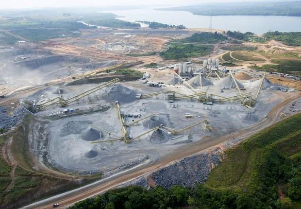 Canteiro de obras da Usina de Belo Monte (Foto: Regina Santos/Divulgação)