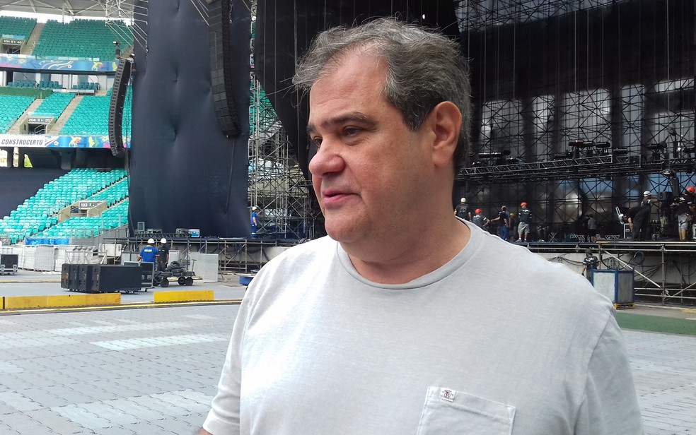 Luiz Oscar Niemeyer é o produtor responsável pela turnê brasileira de Paul (Foto: Gabriel Gonçalves/G1 Bahia)