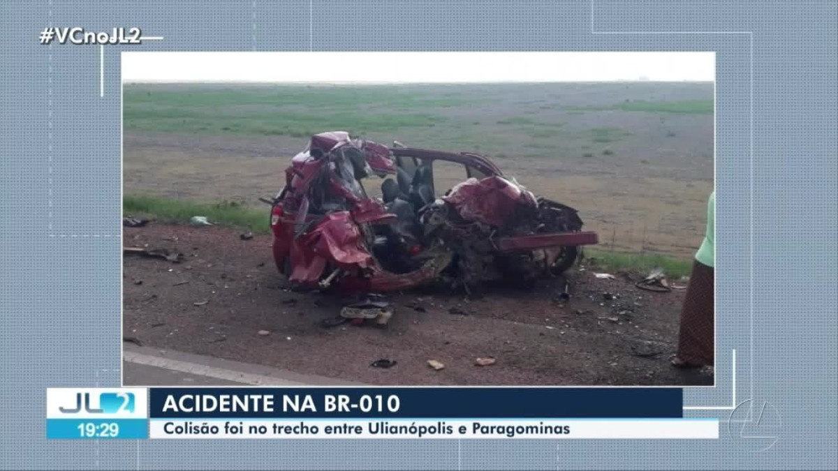 Acidente deixa duas pessoas feridas na rodovia BR-010 em Ipixuna, no Pará