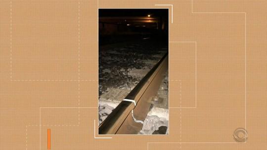 No dia mais frio do ano em Porto Alegre, temperatura baixa causa fissura nos trilhos do trem, diz Trensurb