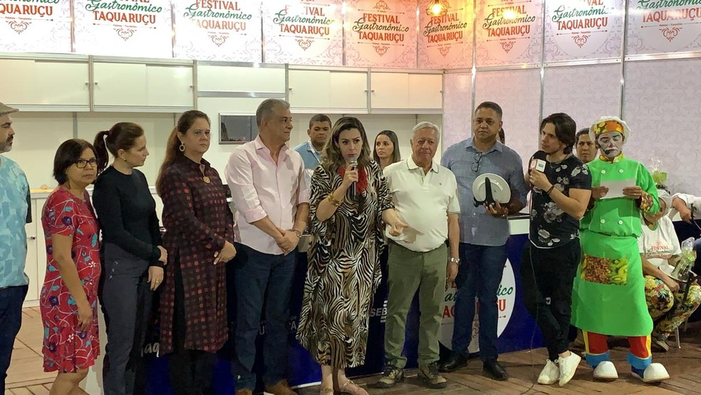 Anúncio dos vencedores foi feito no último dia do Festival Gastronômico de Taquaruçu — Foto: Lucas Machado/TV Anhanguera