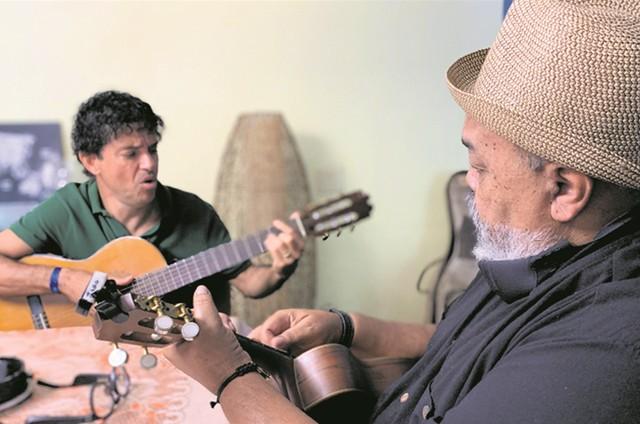 Jorge Vercillo e Jorge Aragão (Foto: TV Globo)