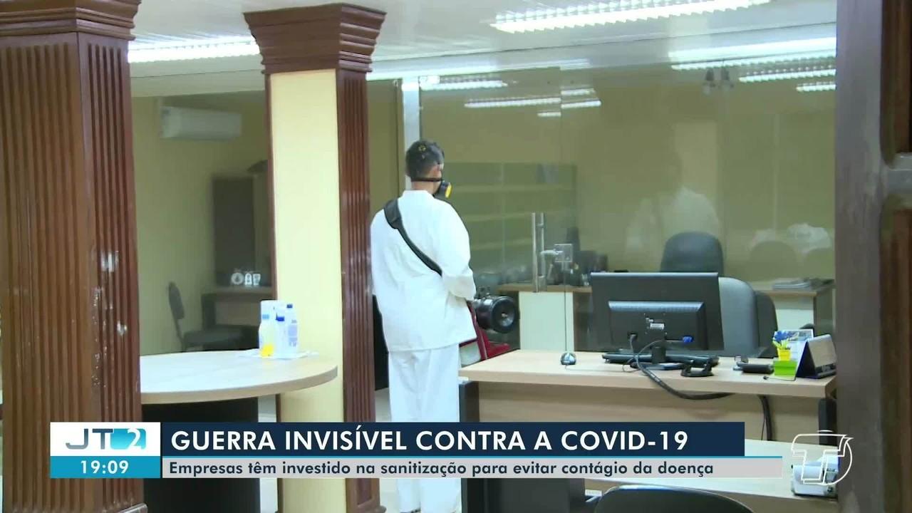 Empresas tem investido na sanitização para evitar contágio da Covid