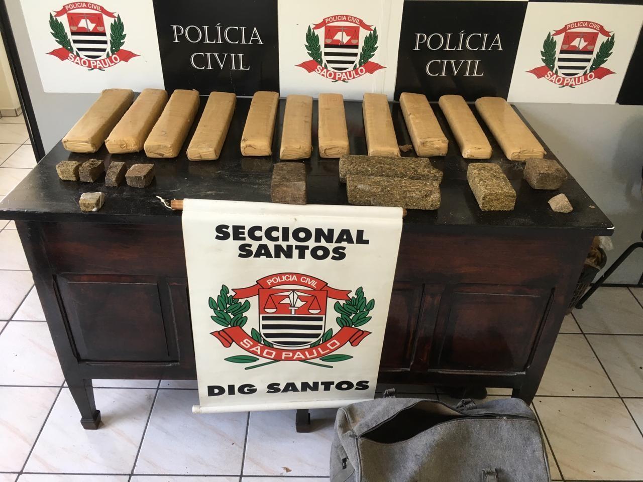 Quase 18 kg de maconha são localizados ao lado de escola em Santos, SP - Radio Evangelho Gospel