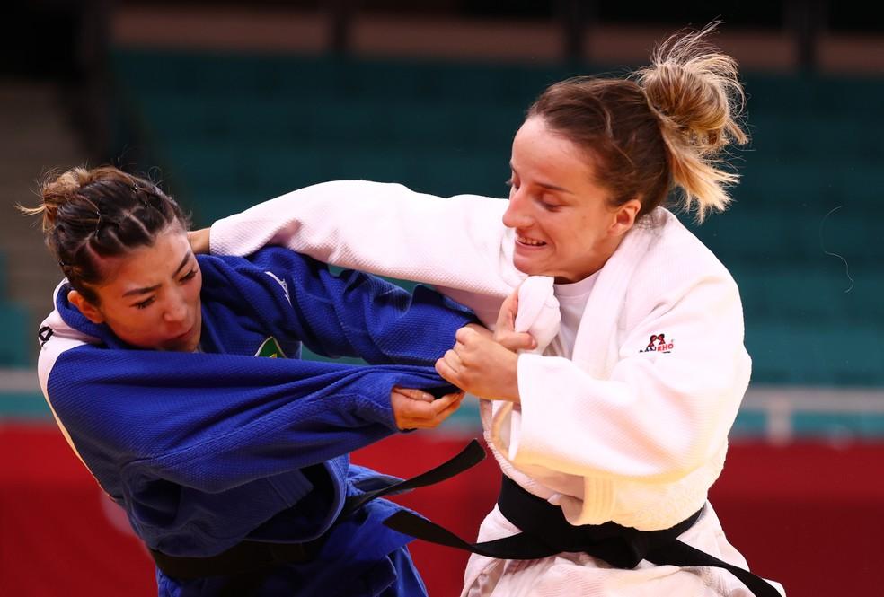 Distria Krasniqi, Gabriela Chibana, judô, Olimpíadas Tóquio 2020 — Foto: REUTERS/Sergio Perez