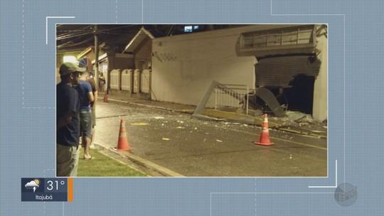 Criminosos explodem agência bancária em Sapucaí Mirim, MG