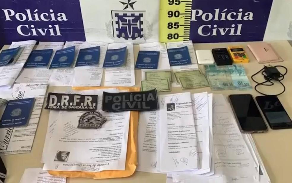 Duas mulheres são presas por suspeita de estelionatário no interior da BA — Foto: Reprodução/TV Subaé