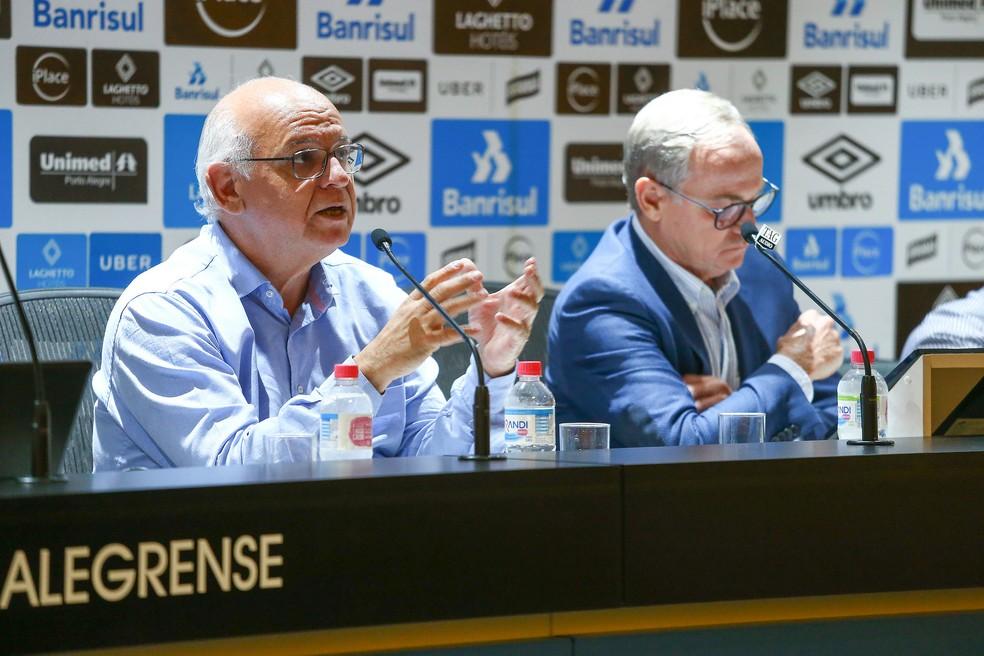 Romildo Bolzan terá reunião com Renato — Foto: Lucas Uebel / Grêmio, DVG
