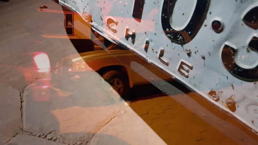 Veículo tem origem chilena e estava irregular — Foto: Reprodução/PRF