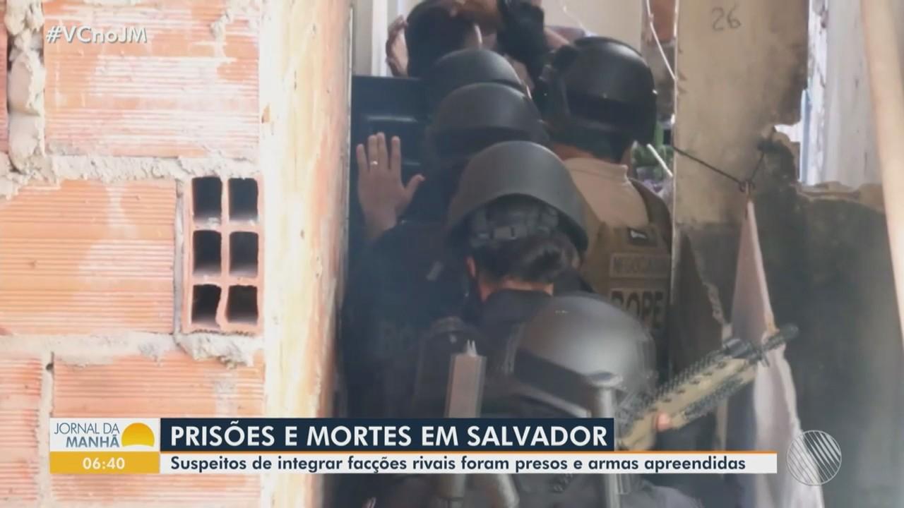 Suspeitos de participação em arrastões na região do Subúrbio, em Salvador, são presos