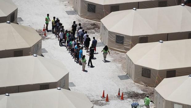 Centro de detenção para crianças imigrantes no Texas (EUA) - imigração (Foto:  Joe Raedle/Getty Images)