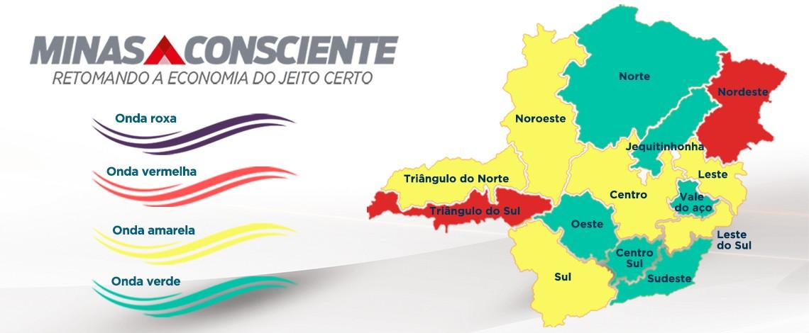 Microrregiões de Itajubá e São Lourenço avançam para onda verde do Minas Consciente; Sul de Minas permanece na onda amarela