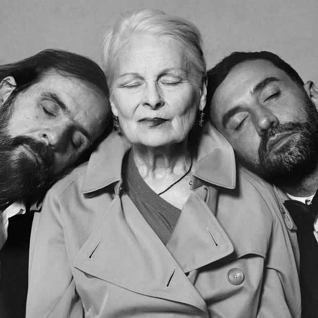 Andreas Kronthaler, Vivienne Westwood e Riccardo Tisci (Foto: Instagram Riccardo Tisci)