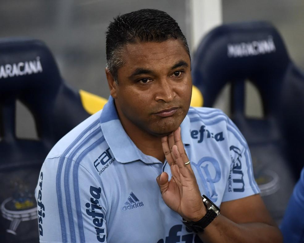 Último trabalho de Roger Machado foi no Palmeiras — Foto: André Durão