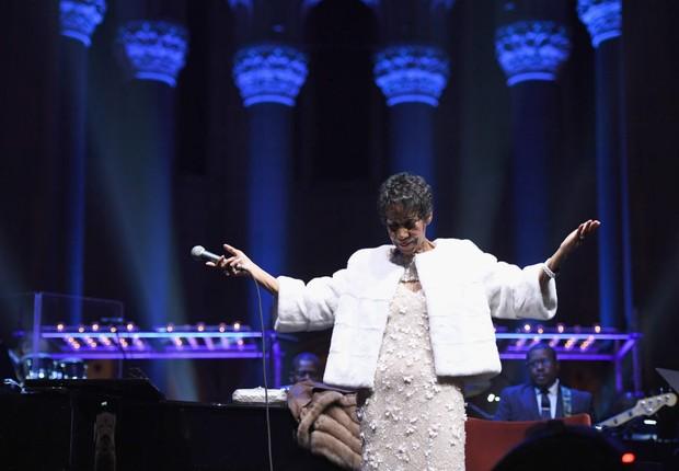 Aretha Franklin em show realizado em 2007 (Foto:  Dimitrios Kambouris/Getty Images)