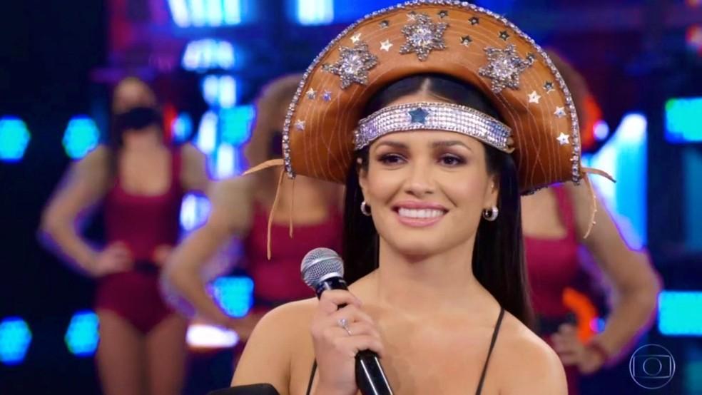 Juliette no palco do Domingão — Foto: Globo