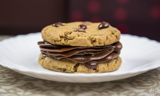 Sanduíche de cookies da rede de cafeterias Bendito