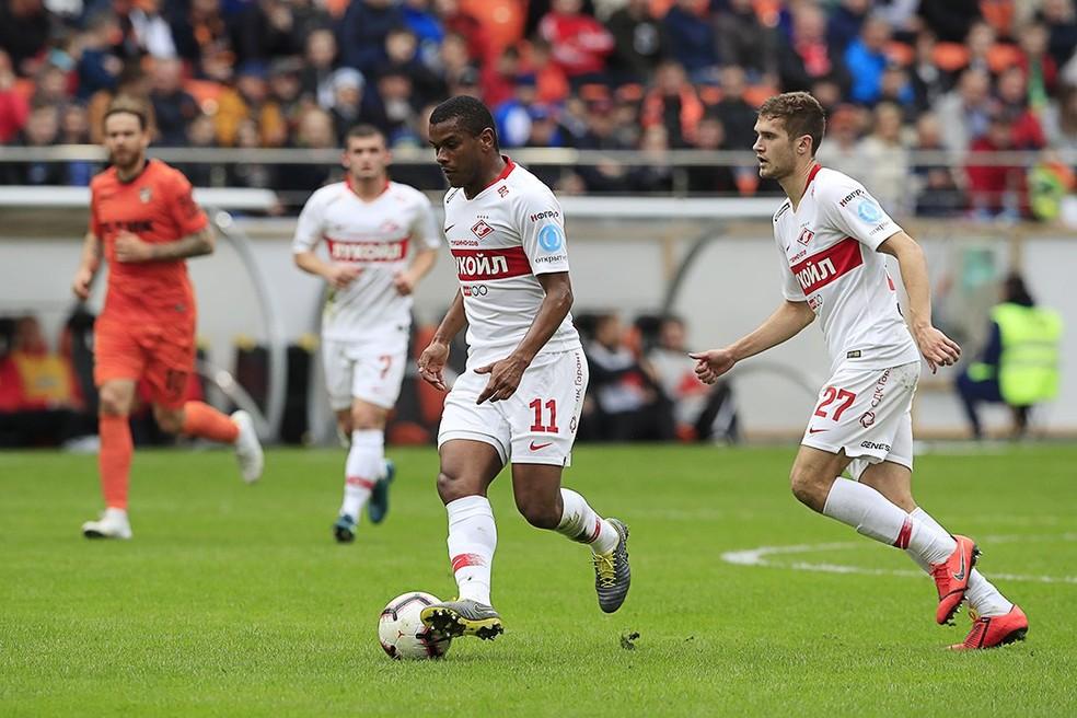 Fernando em ação quando defendia o Spartak — Foto: Reprodução/Twitter