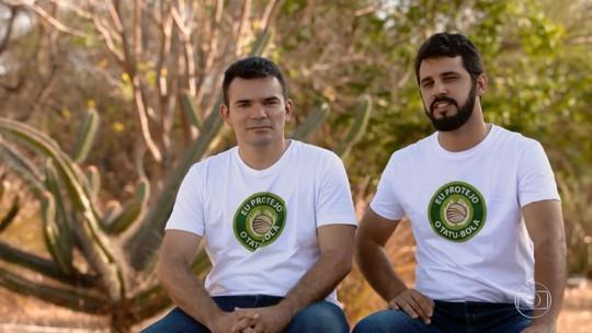 Dupla do 'The Wall' busca investimento para construir Centro de Pesquisa para proteger caatinga e tatu-bola
