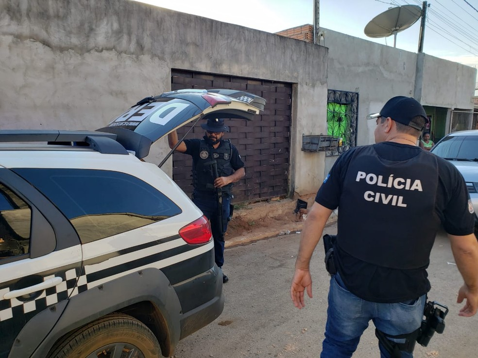 Operação cumpriu mandado de prisão em Sorriso — Foto: Polícia Civil