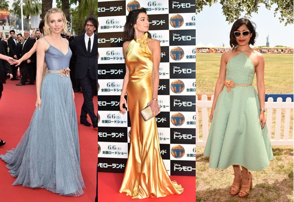 Sienna Miller, Amal Clooney e Frieda Pinto (Foto: Getty Images)