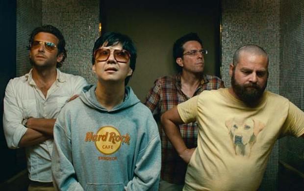 Bradley Cooper, Ken Jeong, Ed Helms e Zach Galifianakis em Se Beber Não Case! Parte II (Foto: Reprodução)
