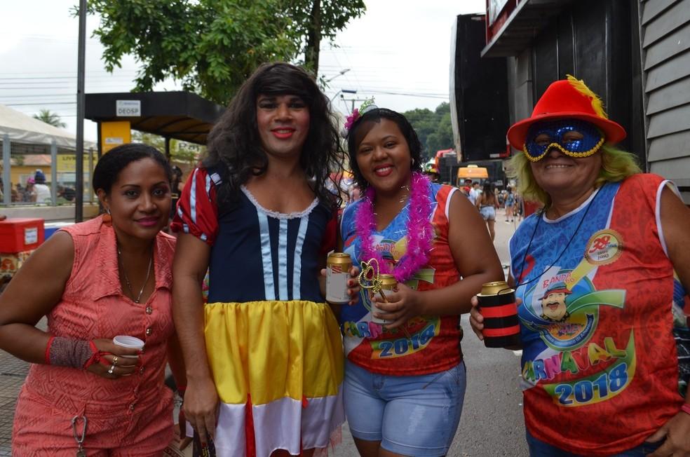 Valter Gomes se vestiu de princesa e se misturou à multidão para brincar na Banda do Vai Quem Quer  (Foto: Toni Francis/G1)