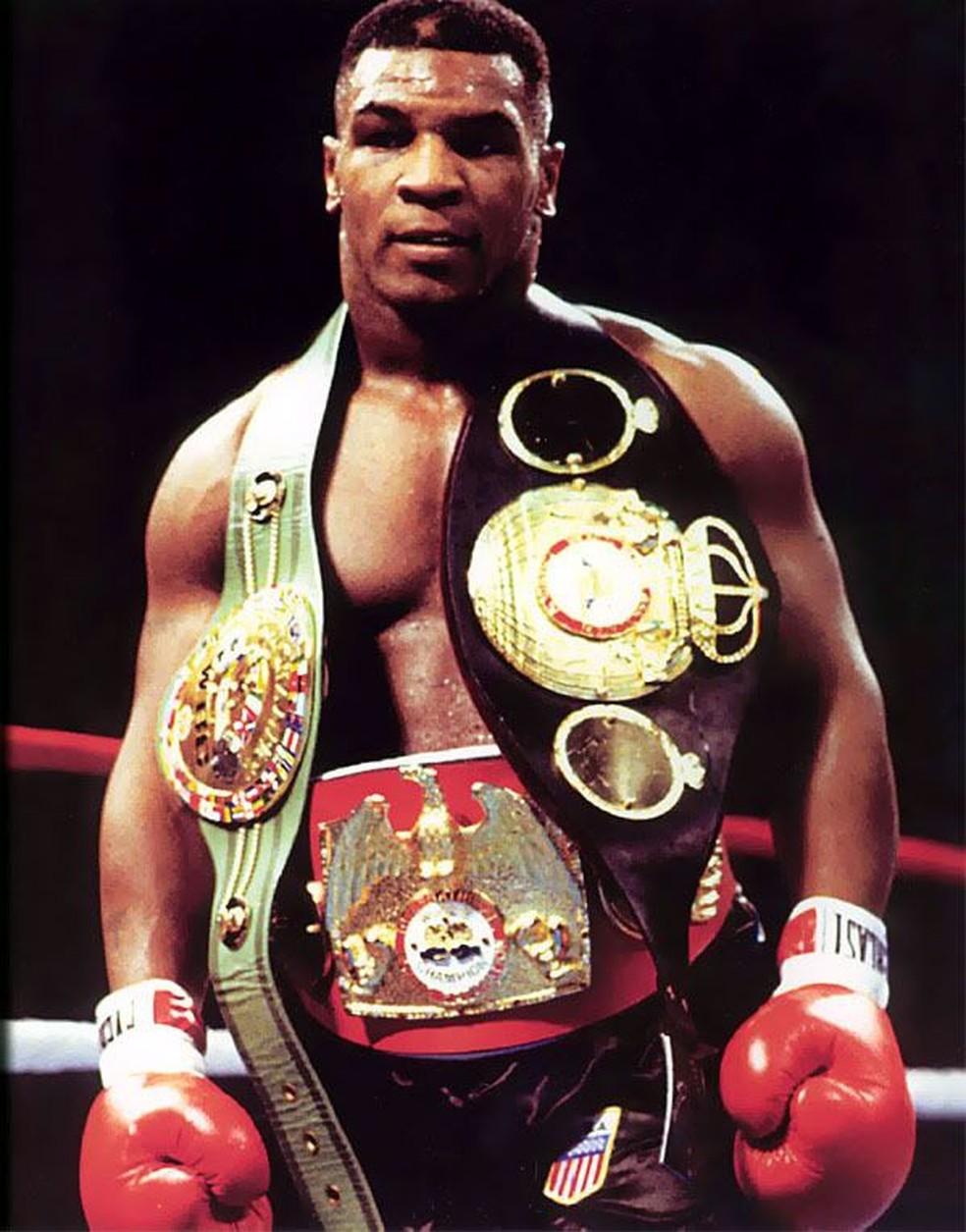 Tyson campeão em 1985 — Foto: Divulgação