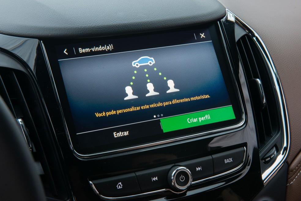 Chevrolet Cruze 2020 traz internet a bordo — Foto: Divulgação