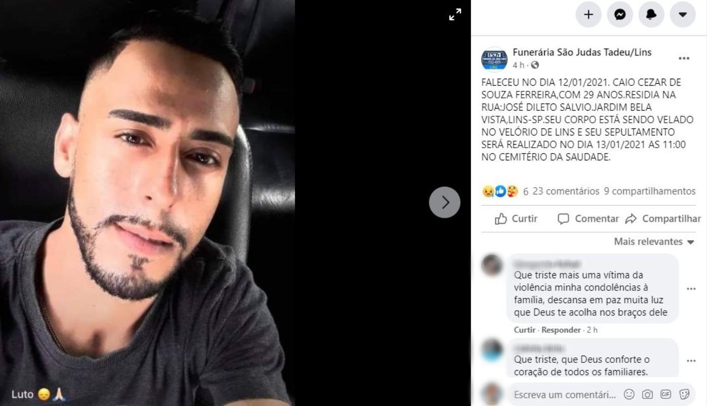 Polícia prende terceiro suspeito de matar músico a tiros em rodovia de Lins