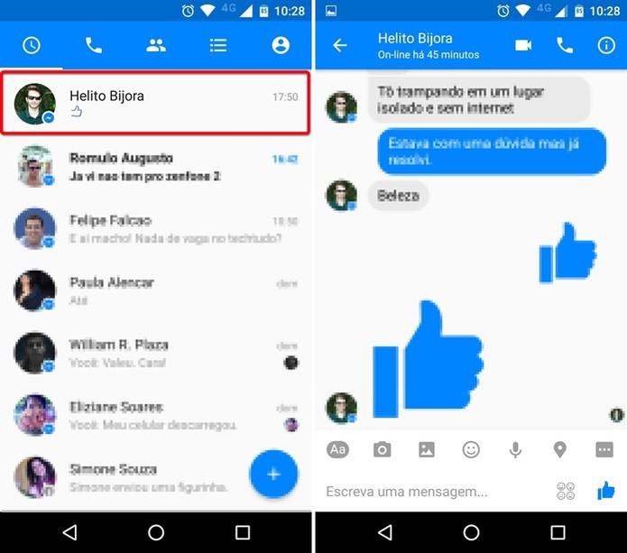 Tudo sobre o Facebook Messenger Arquivos e Vídeos - varias conversas