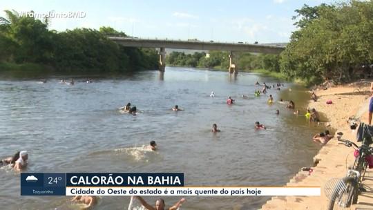 Temperatura chega a 40ºC em cidade da Bahia e município é considerado o mais quente do país