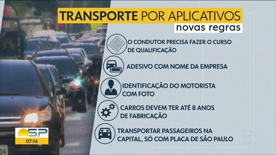 Prefeitura de SP começa a multar nesta segunda motoristas que desrespeitarem novas regras do transporte de aplicativos