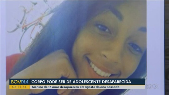 Corpo encontrado pode ser de adolescente desaparecida desde agosto passado